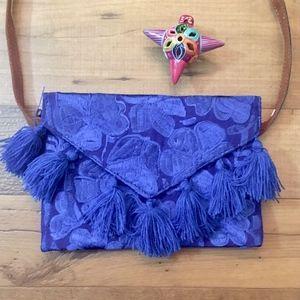 Bohemian  Embroidered envelope style crossbody bag